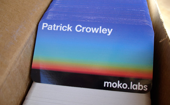 mokolabs business cards