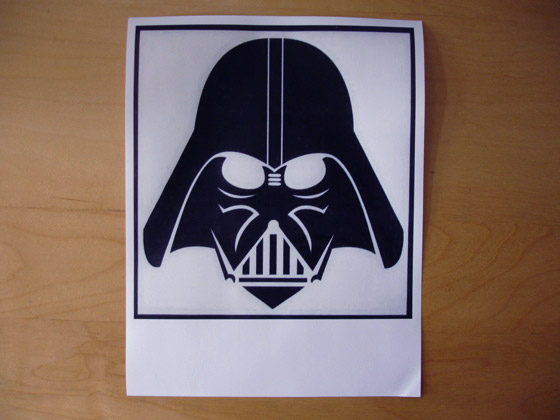 Print Vader out